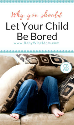 The benefits of boredom for children and why you should let your child be bored. Why being bored is good for your child.