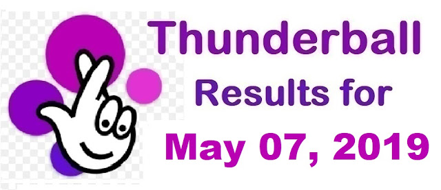 Thunderball results for Tuesday, May 07, 2019