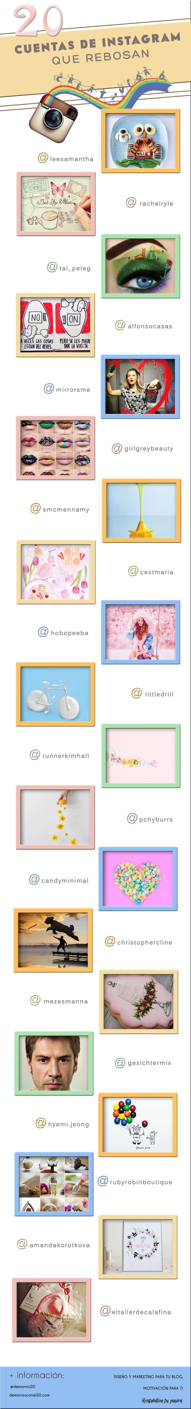 infografia-20-cuentas-instagram-creatividad