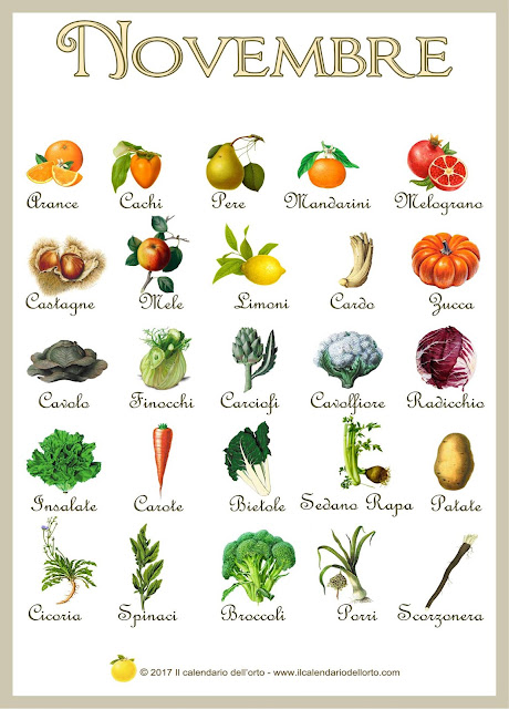 novembre frutta e verdura