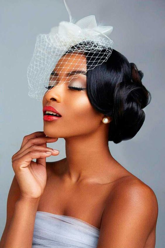 Pretty Wedding Updo Hairstyles For Black Women