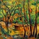 'Pedra de molí i cisterna sota els arbres (Paul Cézanne)'