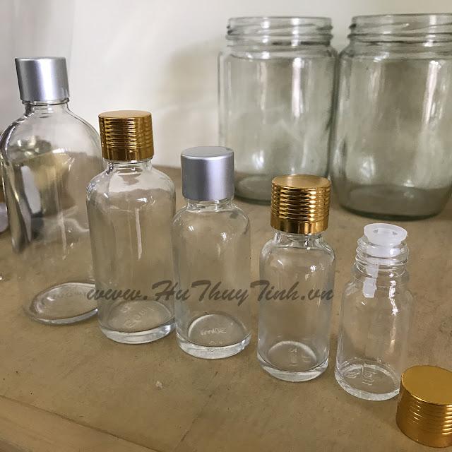 Vỏ chai thủy tinh đựng tinh dầu