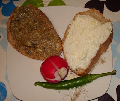salata de vinete si icre de hering