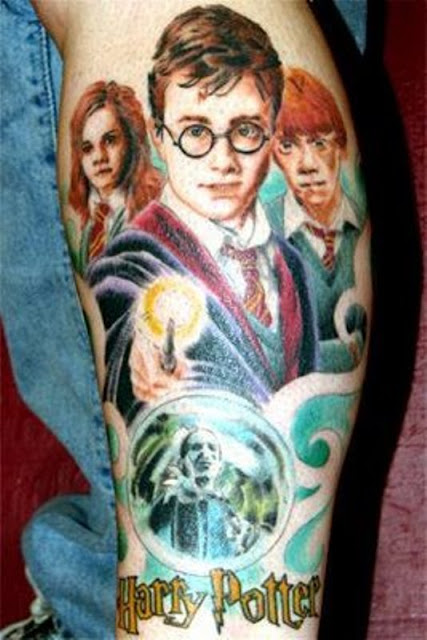 Tatuaje de Harry Potter