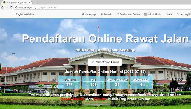Sistem Pendaftaran Online Rumah Sakit Margono Purwokerto