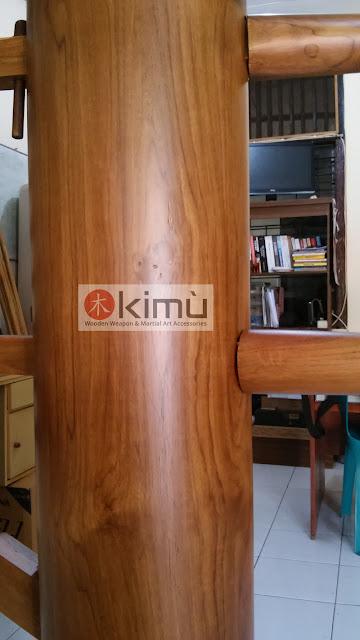 KIMU Gold Tiger Wooden Dummy / Mok Yan Jong 170cm
