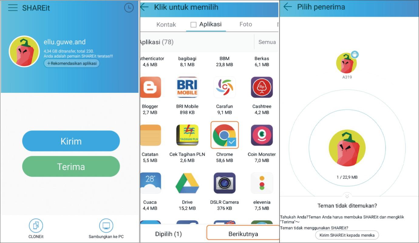 2 Cara Mengirim Aplikasi Lewat Bluetooth Dan Wifi Di Android