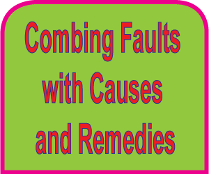 Combing faults