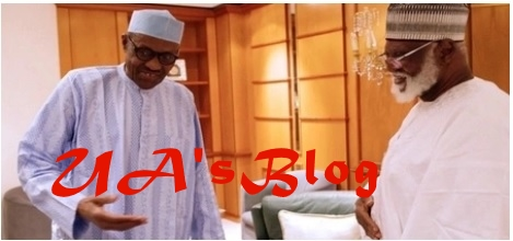 Former head of state Abdulsalam Abubakar visits Buhari in Aso Rock (video)