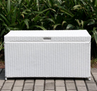 Outdoor 70 Gallon Wicker Deck Storage Box Color