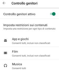Controllo Play Store