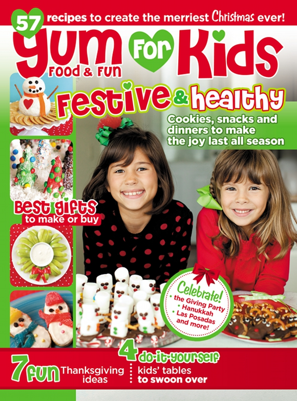 Holiday Kids' Tables for Yum Food Magazine - BirdsParty.com