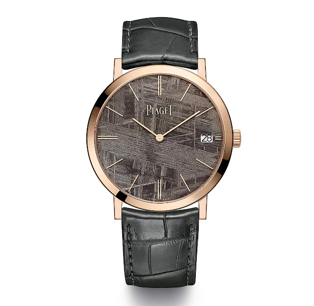 40 mm Piaget Altiplano in pink gold with grey meteorite dial