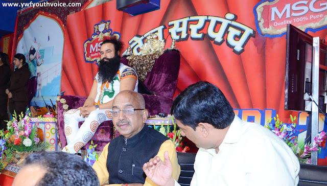 Sports Minister Vijay Goel watching TRL Final Match Rumaal Chhoo Tournament In Dera Sacha Sauda Sirsa With Saint Dr. Gurmeet Ram Rahim Singh Ji Insan