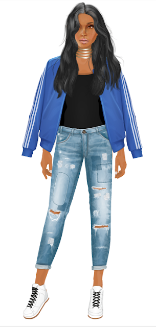 stardoll gold chocker stacy-g