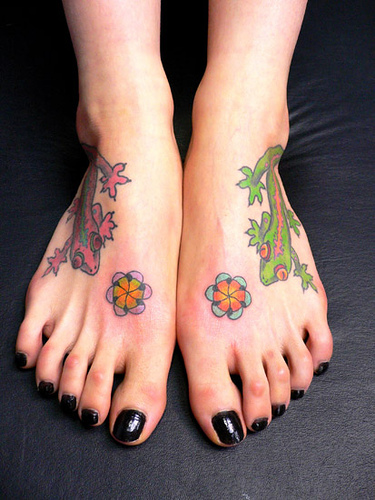 tattoo nos pés