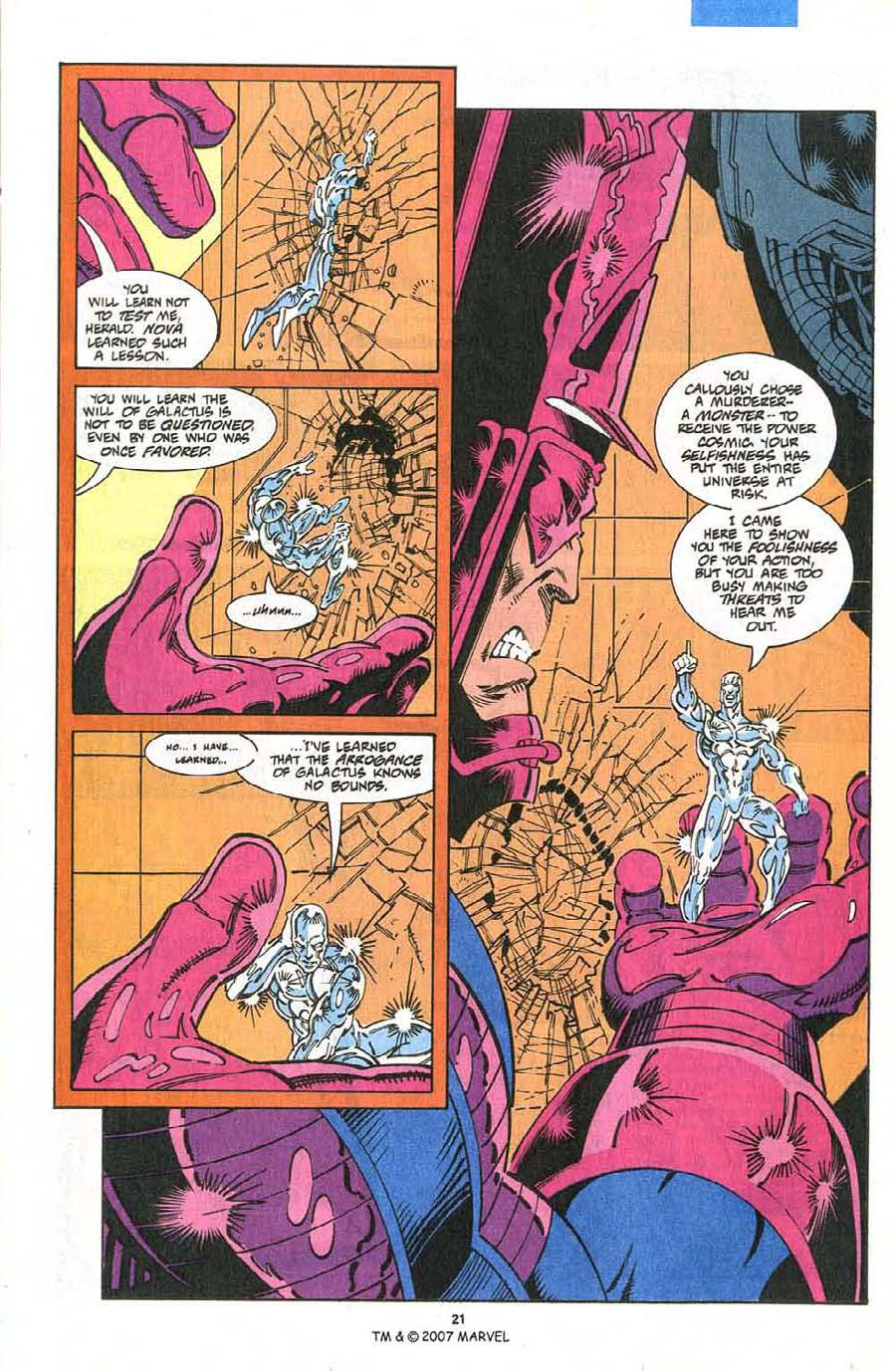 Read online Silver Surfer (1987) comic -  Issue #75 - 23