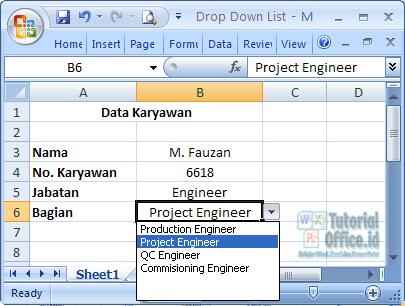 Dependedent Drop Down List Excel