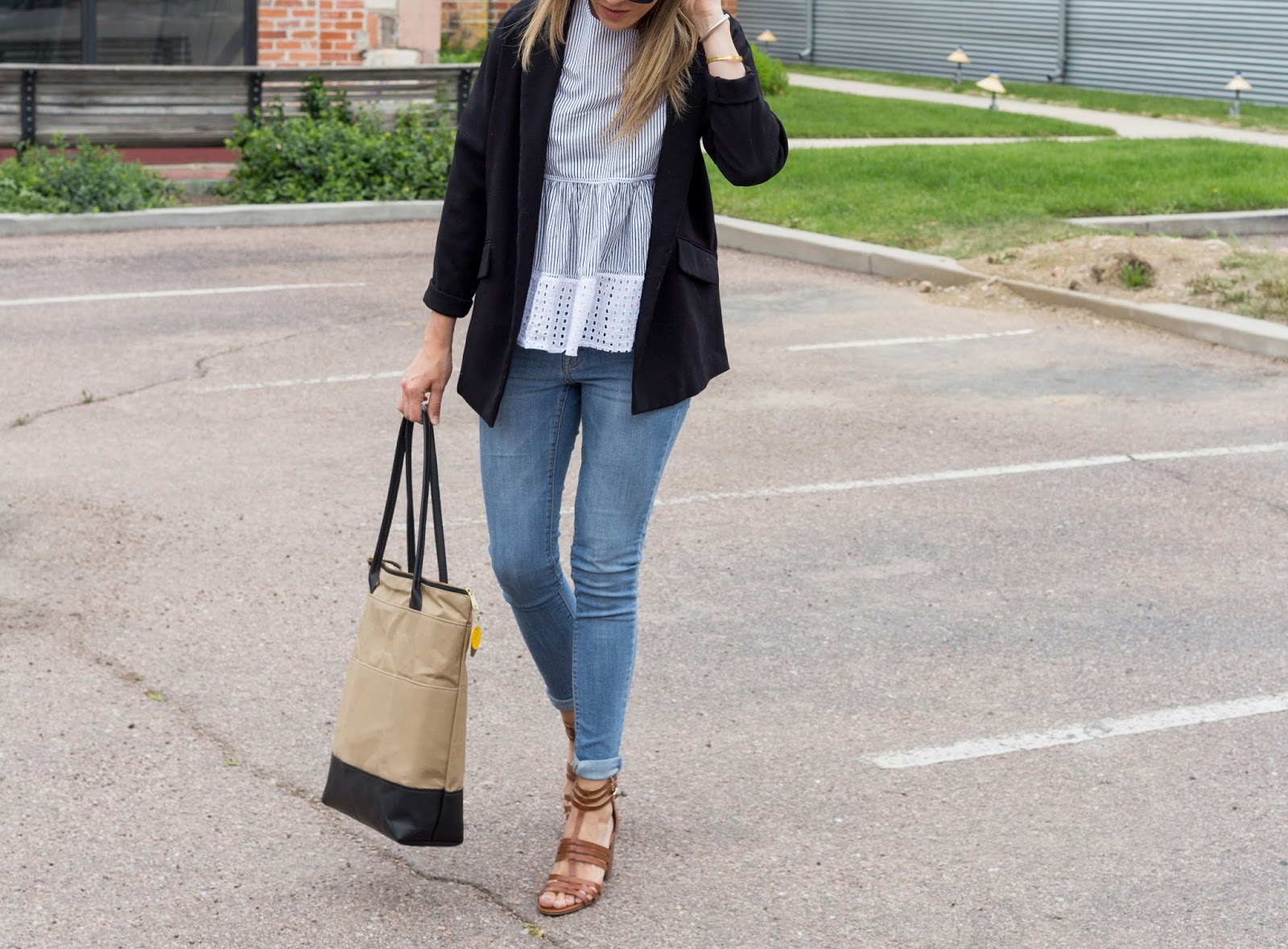 An Oversized Blazer Makes For An Easy Day To Night Look