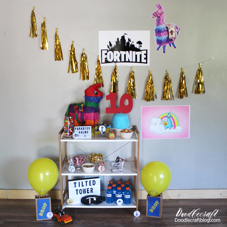 Host a perfect Fortnite Video Game birthday party with treats, games and more.
