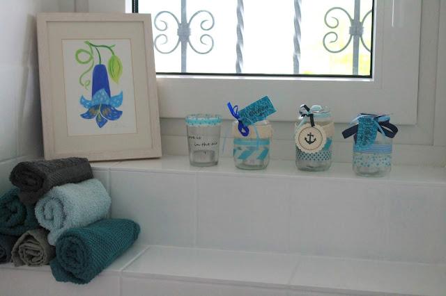 Gaeste WC nachher Badezimmer Makeover mit wenig Aufwand Jules kleines Freudenhaus
