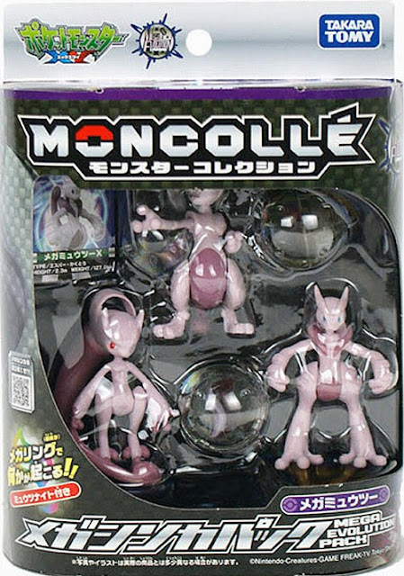 Takara Tomy Monster Colletion MONCOLLE Mega Mewtwo Evolution pack