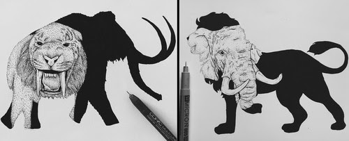 00-Paige-Bates-Wildlife-Double-Exposure-Drawings-www-designstack-co
