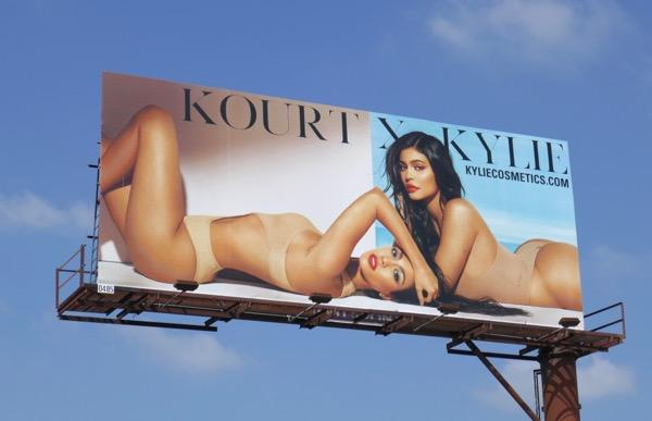 Kourt X Kylie Cosmetics billboard