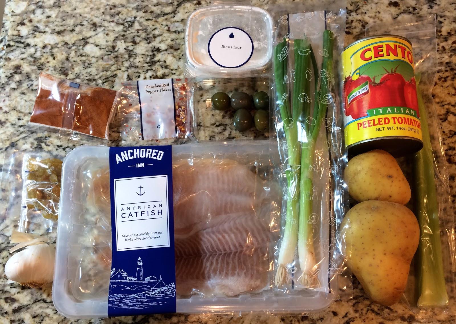 Blue apron wonton noodles - Blackened Catfish With Veracruz Sauce