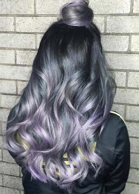 ไอเดียสีผม 'Smoky Lavender'