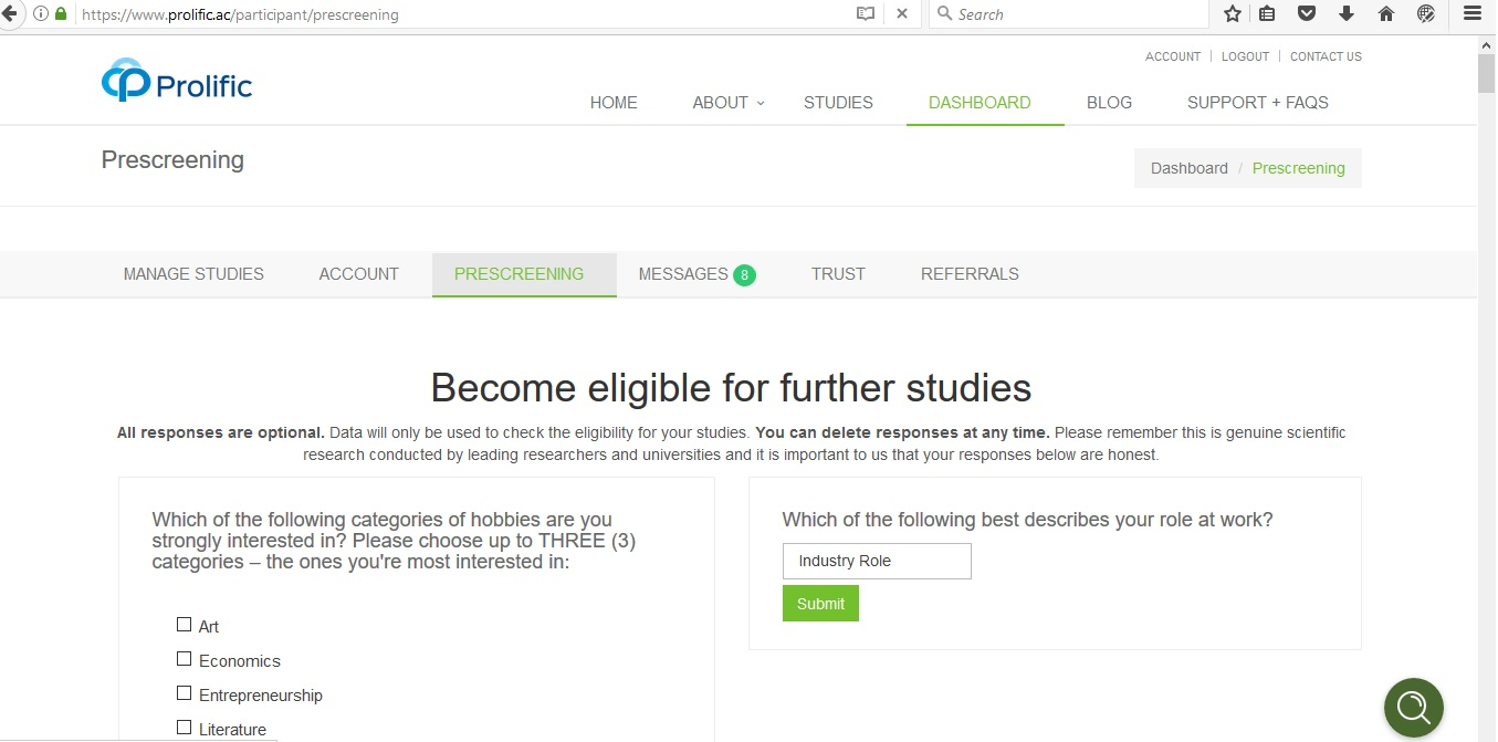 Prolific Academic - How To Get More Surveys