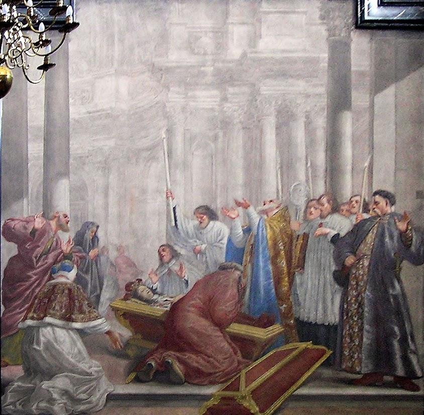 Morte São Casimiro. Capela de São Casimiro na Catedral de Vilnius, Lituânia.