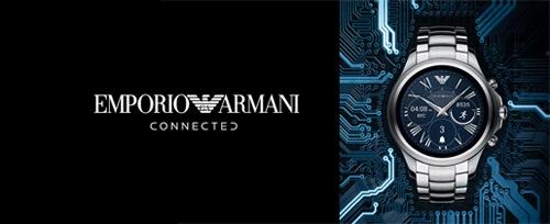 4087a41b4ed Lançamento da primeira linha de relógios inteligentes EMPORIO ARMANI  CONNECTED com tecnologia touchscreen.