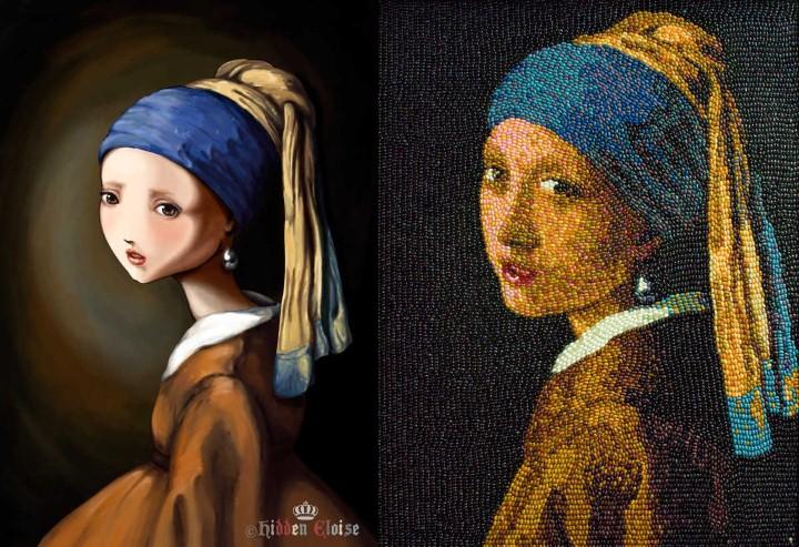 """Пародии на картину """"Девушка с жемчужной сережкой"""""""