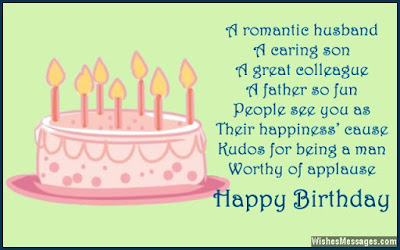 Happy Birthday wishes quotes for husband: a romantic husband a caring son