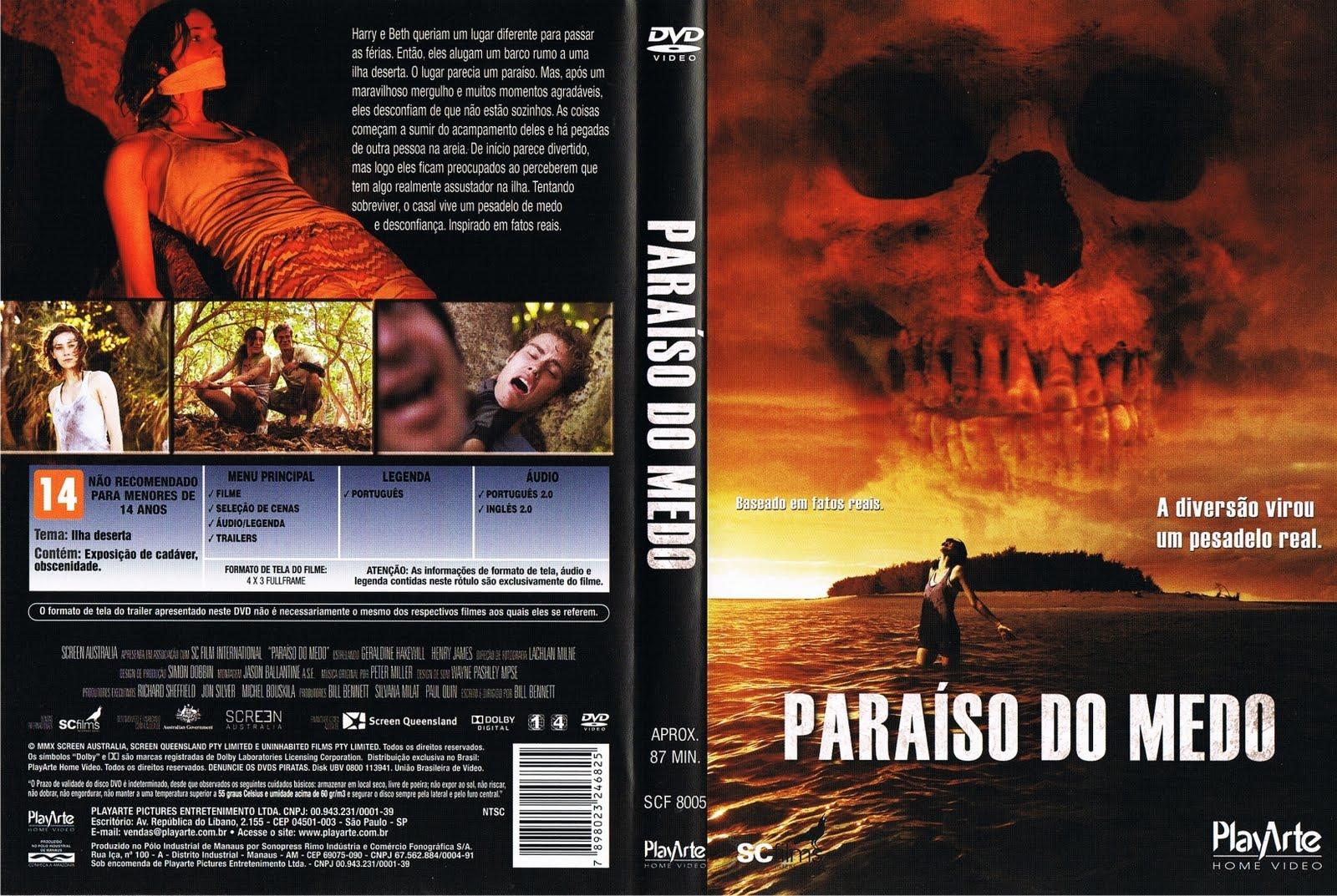Capas Filmes Terror: Paraíso do Medo