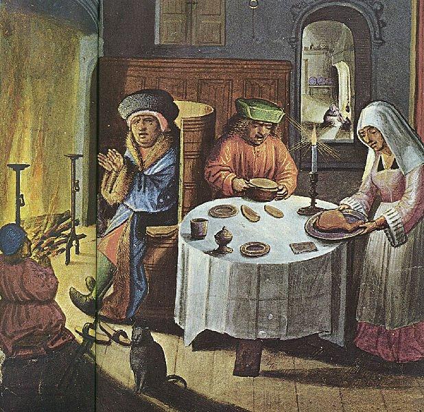 Numa casa de burgueses, todos bem alimentados, vestidos e aquecidos
