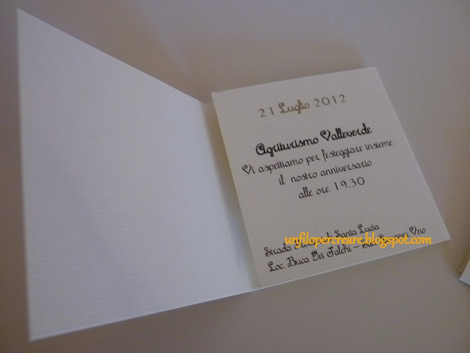 Eccezionale un filo per creare: Inviti anniversario di matrimonio AV06
