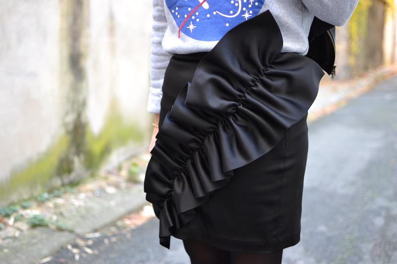jupe noire à froufrous & other stories