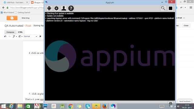 Appium Server
