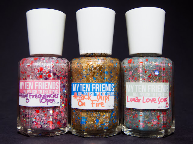 Chalkboard Nails: My Ten Friends nail polish bottles