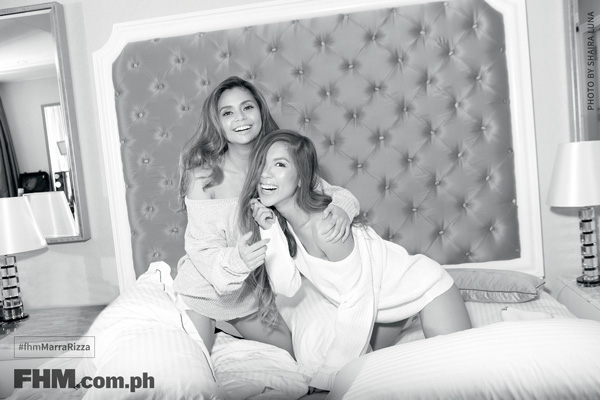 Mara Aquino, Rizza Diaz in bed