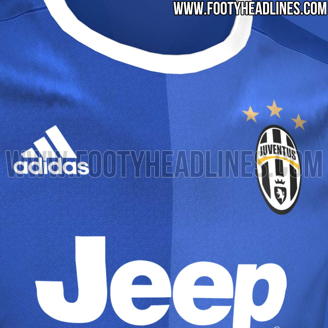 88c20bb123f The Jeep sponsor logo is printed on the front of the Adidas Juventus 2016-17  away jersey in solid white and comes without the surrounding box known from  the ...