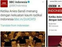 Netizen Kecam BBC Usai Pelintir Judul Berita Kekalahan Ahok: Islam Kok disamakan Dengan Radikal?
