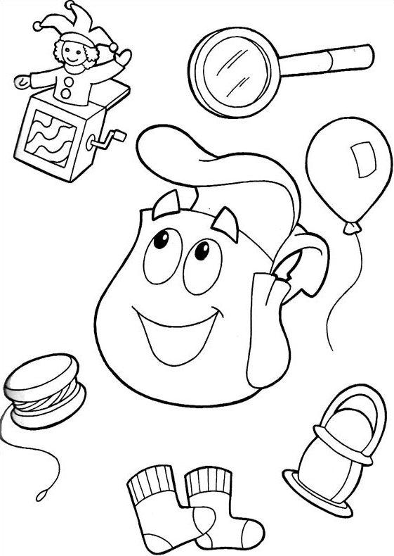 Dibujos animados para colorear: Dora la exploradora para