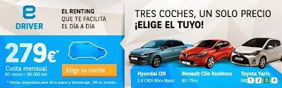 Precios coches de renting