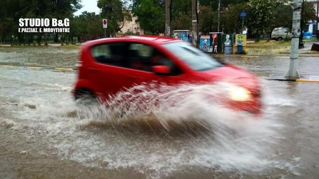 Σφοδρή καταιγίδα στην Αργολίδα