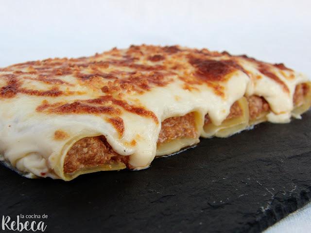 Canelones de carne y foie (a la catalana o de San Esteban)