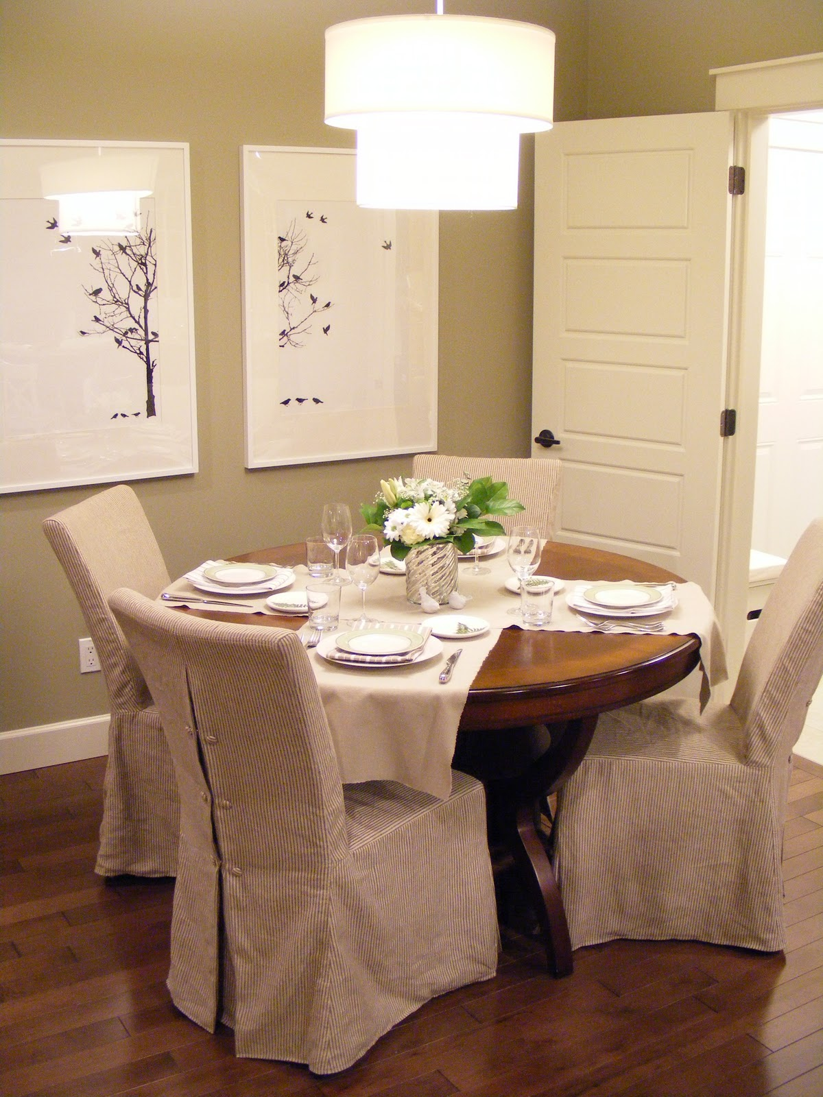 The Dining Chair Slipcovers Room Reveal